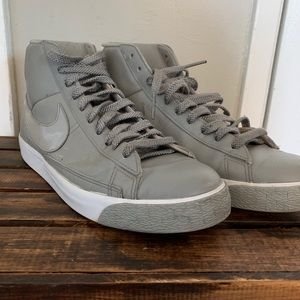 Nike Shoes - Nike Blazer High Men Grey Shoes 379416-012 size 10